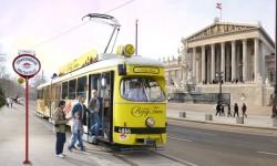 Vienna Tram Haltestelle Parlament