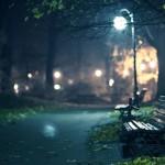 У світлі старого ліхтаря