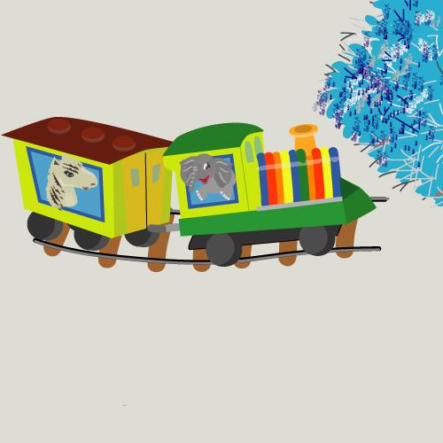 іграшковий поїзд, кольоровий поїзд