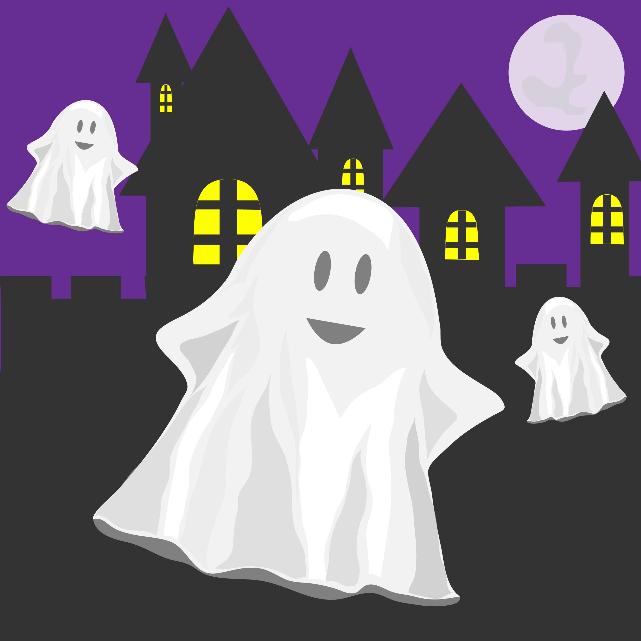 привид, привиди, ніч, діти шукають привида