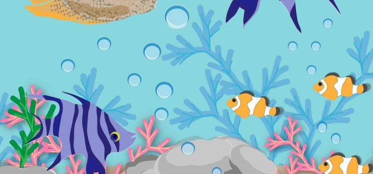 Краб та риби
